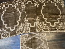ROMANY GYPSY WASHABLE MATS FULL SETS OF 4 MATS-RUGS X LARGE 100X140CM DARK BEIGE